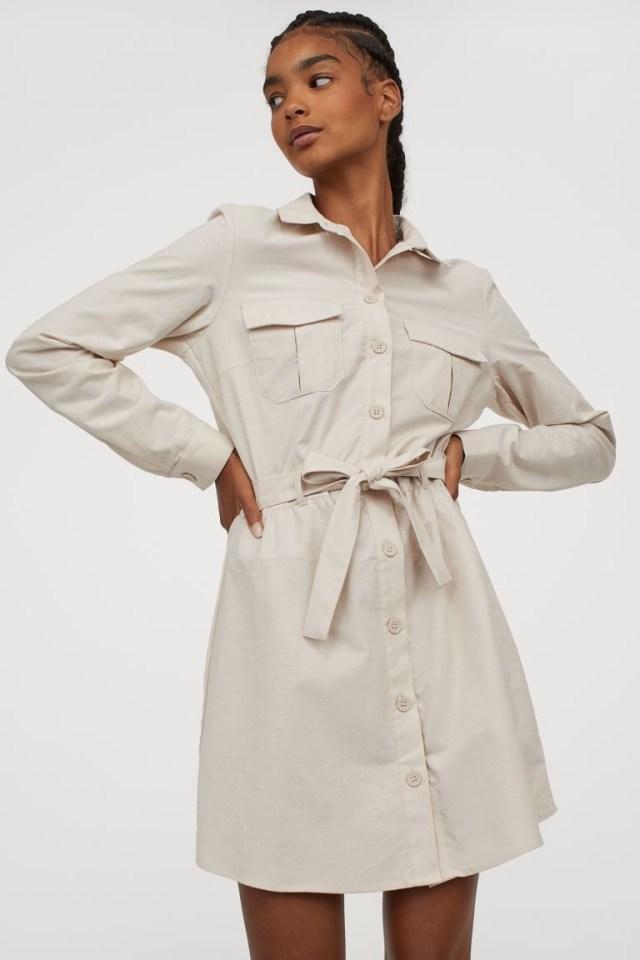 H&M μπεζ φόρεμα