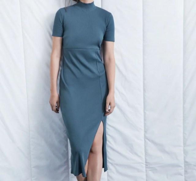 Zara φόρεμα με σκίσιμο εκπτώσεις