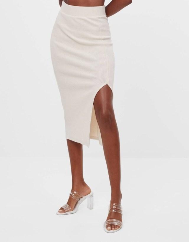Bershka λευκή φούστα