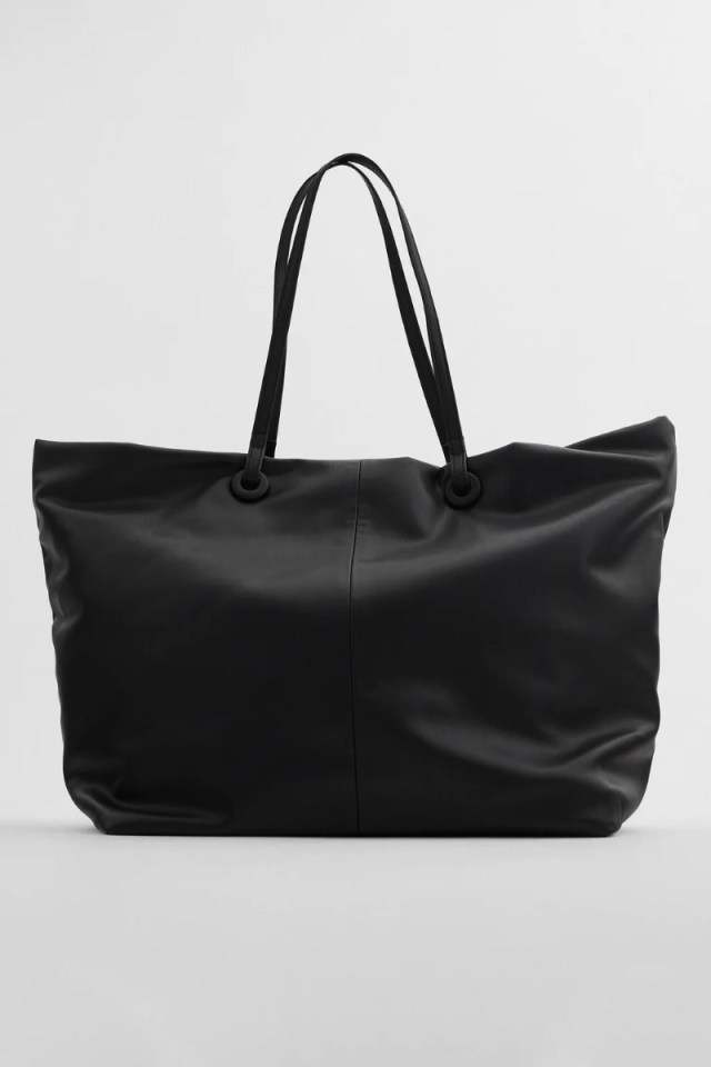 Zara μαύρη τσάντα