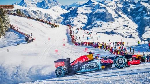 Formula 1 aracı ile karda sürmek