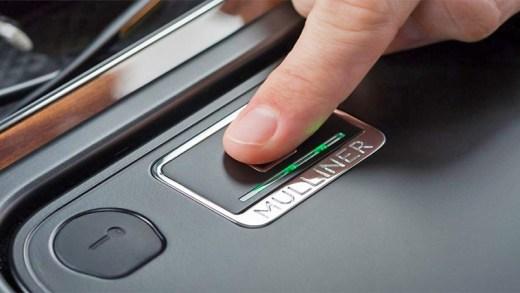 Bentley Bentayga Biometrik saklama gözü