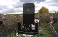 Telefon Bağımlılığında Son Nokta! iPhone Şeklinde Mezar