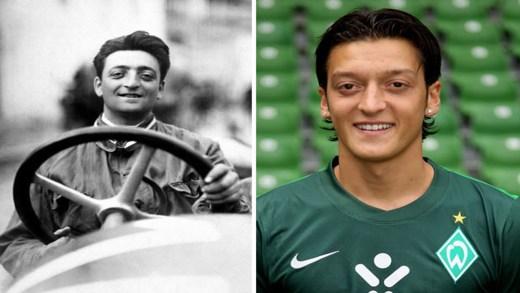 Enzo Ferrari ile Mesut Özil benzerliğinden reenkarnasyon kuşkusu bile çıkıyor. İşte birbirine benzeyen ünlüler. Birbirine benzeyen ünlüler