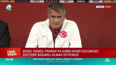 Şenol Güneş ve İrfan Kahveci Fransa Maç Önü Basın Toplantısı