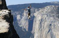 1000 Metre Yükseklikte İp Üstünde Yürüyen Adam Yürekleri Ağza Getiriyor
