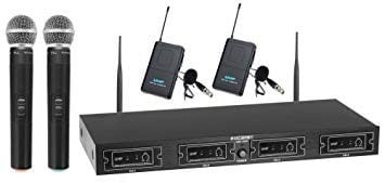McGrey UHF-2V2I Quad Wireless Microphone Set