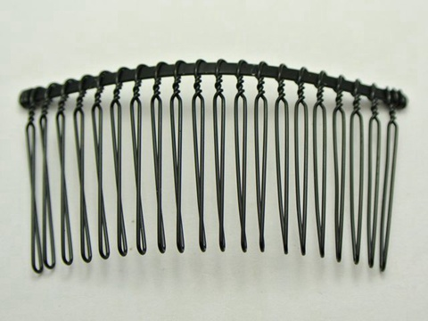 10 black metal hair side bs clips 76x37mm for diy craft ebay