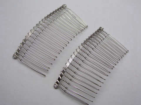 10 silver tone metal hair side bs clips 76x37mm for diy craft ebay