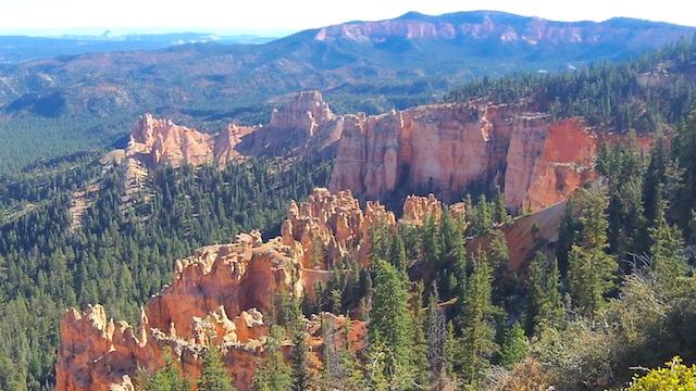 Magnifique roches et arbres dans le parc de Bryce Canyon aux USA voyage blog tour du monde http://yoytourdumonde.fr