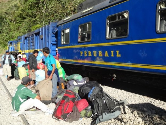Perou-Santa Teresa: Le train direction Agua Calientes et le Machu Picchu