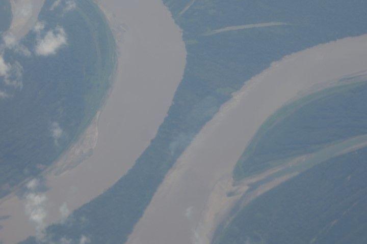 Perou- Amazonie: Decouverte de la région vue du ciel.