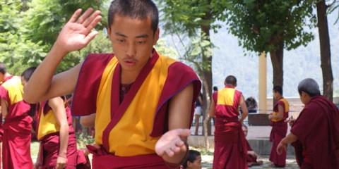 Ecole jeune moine tibétain photo blog voyage free tibet http://yoytourdumonde.fr