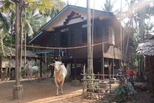 les maisons sur pilotis sur l'ile de l'ogre sont des maisons typique que vous retrouvez dans le sud-est de la birmanie comme la ville de Mawlamyine photo blog voyage tour du monde http://yoytourdumonde.fr