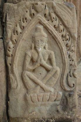 La barbe de Shiva est facilement reconnaissable dans les temples d'Angkor au Cambodge. Photo blog http://yoytourdumonde.fr