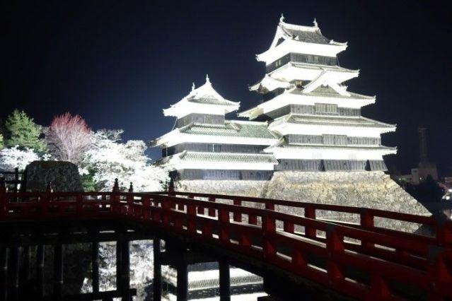 En avril avec les cerisiers le chateau de Matsumoto est d'une beauté incroyable. Photo blog voyage tour du monde http://yoytourdumonde.fr