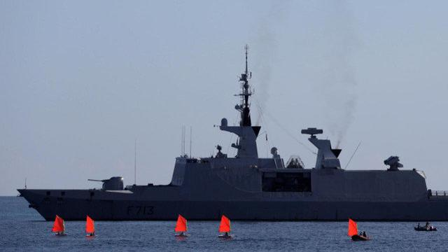 After clashes with Turkish warships, France suspended participation in NATO naval operations in the Mediterranean