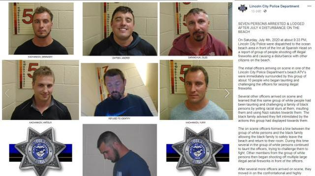 Harassing black people with racial insults and Nazi salutes, US police arrest 7 men