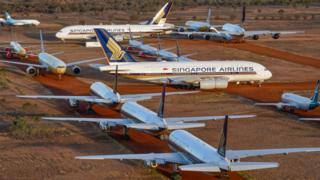 A large number of aircraft are idle under the epidemic, Australia's huge apron is in short supply