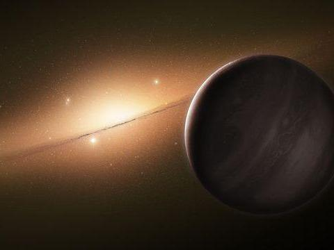 27,000 light-years away, an earth-sized planet wanders lonely, but it shows its feet here