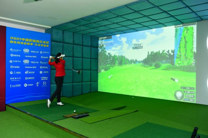 When sports encounters black technology, have you seen such a golf game?