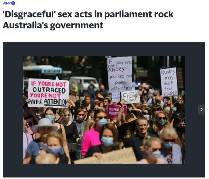 """Australia's political scandals frequently provoke protests. Is the """"harmful"""" discriminatory culture difficult to eradicate?"""