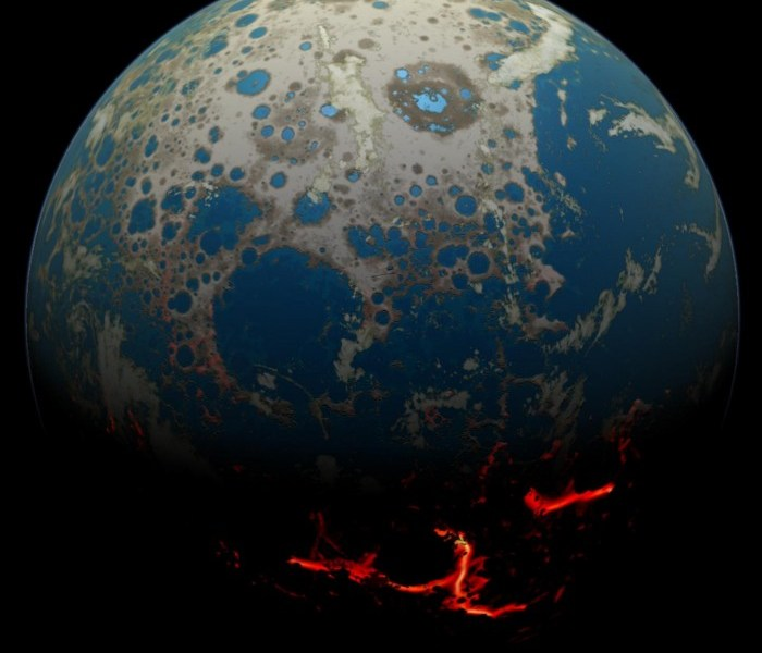The continental crust appeared 500 million years earlier than previously thought