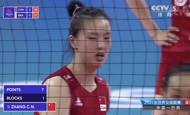 The women's volleyball team defeated Brazil 18-25! Liu Xiaotong made a mistake in consecutive deliveries, Zhang Changning was targeted, and another 8 points in a single game