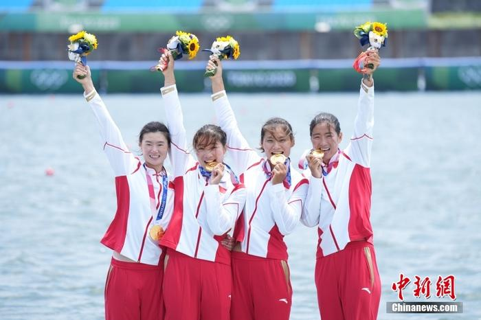 Women's rowing women's four sculls win the championship, Zhang Ling wants to tell his mother that he did it