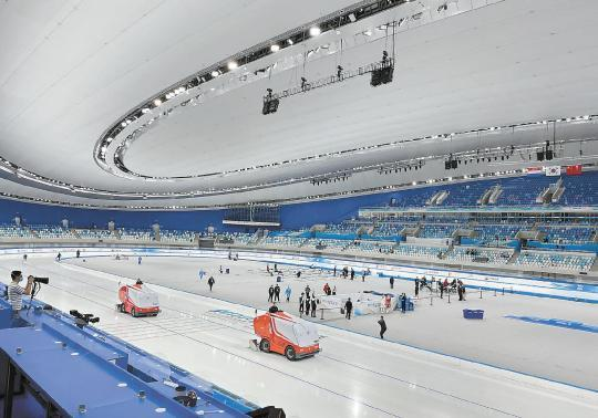 Preparation for the final sprint for the Beijing Winter Olympics