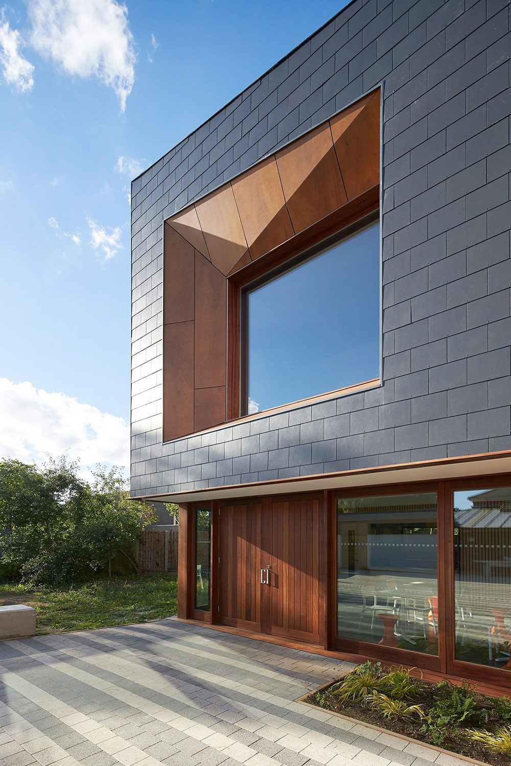 Modern exterior window details for Window cladding