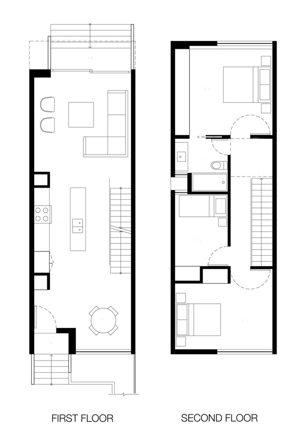 Minimalist home plans extraordinary the minimalist small for Small modern house floor plans