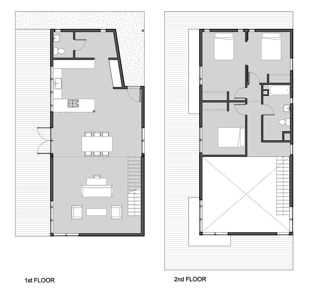 Characteristics Of Simple Minimalist House Plans Garden Street Residence By Pavonetti Architecture Drawing Courtesy Pavonetti Architecture
