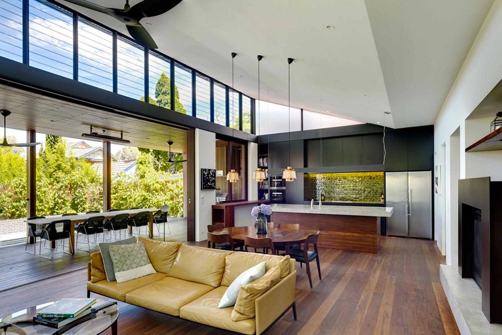 [Kensington House by Virginia Kerridge Architect. Photo courtesy Virginia Kerridge Architect.] & Simple Modern Roof Designs