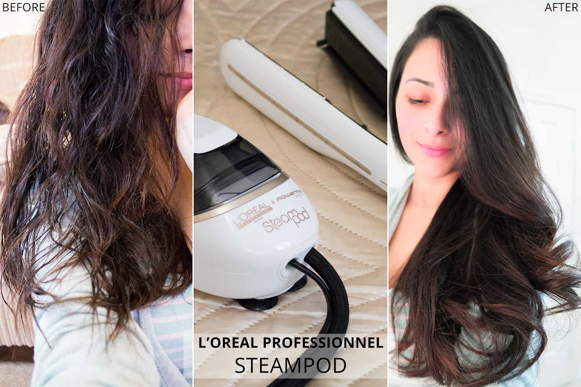 Review L Oreal Steampod 2 0 Straightener Before & After
