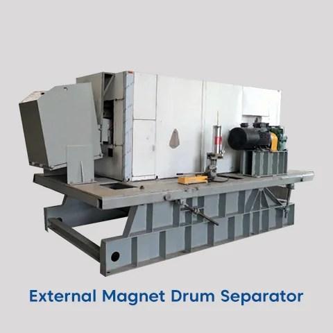 external magnet drum separator