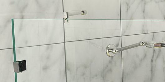 500 X 2000 Single Fixed Panel Walk In Frameless Shower Screen