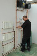 Plumbing in radiators