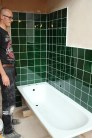 Tiling a bathroom
