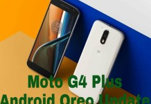Moto G4 Plus Android Oreo Update