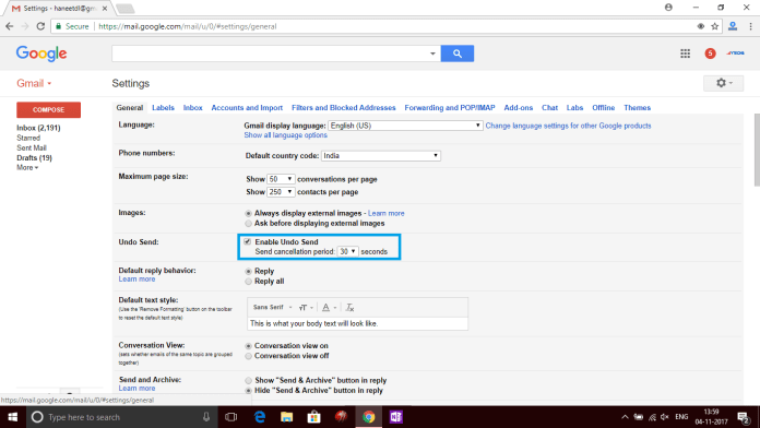 How to Recall Sent Emails on Gmail