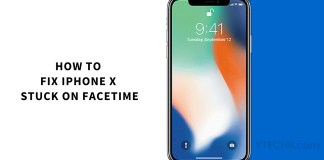iphone x stuck on facetime