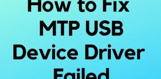 Fix MTP USB Device failed