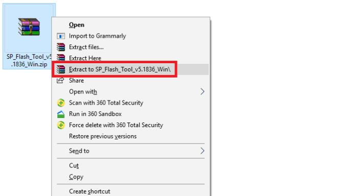 SP Flash Tool - Download