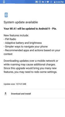 download android pie for mi a1