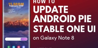Download Galaxy Note 8 Android Pie Stable Update