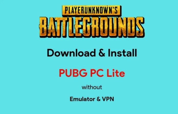 How to Download PUBG Lite onPC
