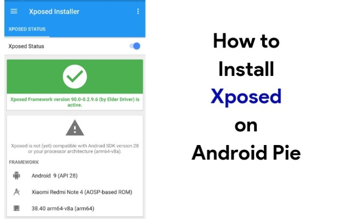 How to install xposed on Android Pie