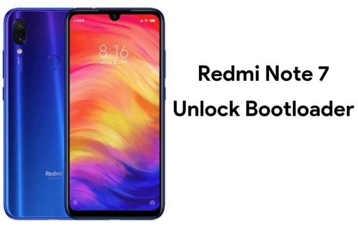unlock bootloader of redmi note 7