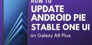 How to install Samsung galaxy A8 plus Android Pie update
